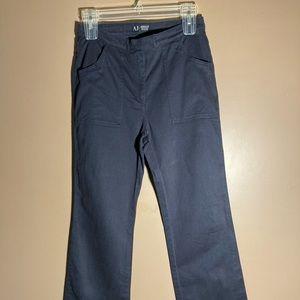 Armani jeans navy wide straight leg